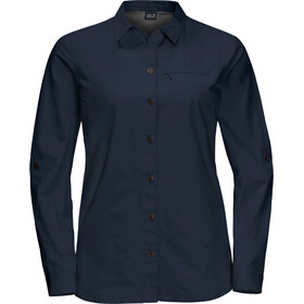 Jack Wolfskin Lakeside Roll-Up Langarmshirt Damen midnight blue